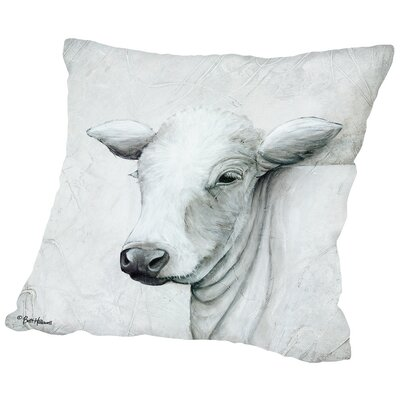 January Cow II Throw Pillow Size: 16 H x 16 W x 2 D