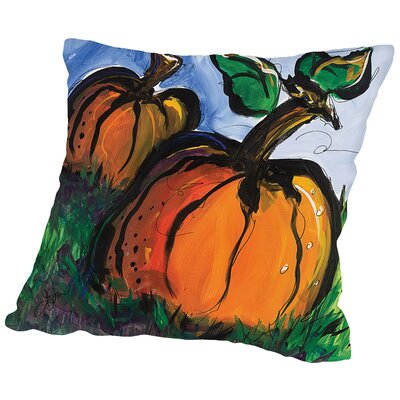 Pumpkins Throw Pillow Size: 14 H x 14 W x 2 D