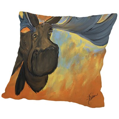 Moose Throw Pillow Size: 14 H x 14 W x 2 D
