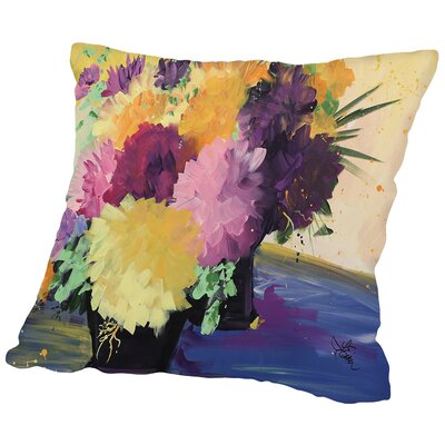 Flower Throw Pillow Size: 14 H x 14 W x 2 D