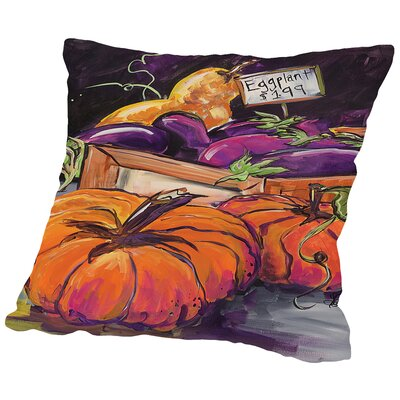 Fall Vegetables Throw Pillow Size: 18 H x 18 W x 2 D