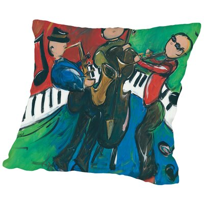 Jazz Ensemble Throw Pillow Size: 18 H x 18 W x 2 D