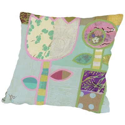 Two Flowers Throw Pillow Size: 18