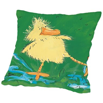 Duckling IV Throw Pillow Size: 14 H x 14 W x 2 D