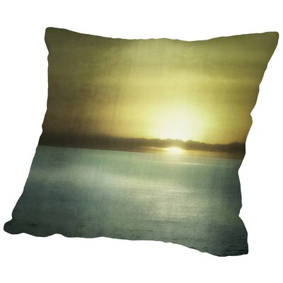 Sunset in Malibu Throw Pillow Size: 16 H x 16 W x 2 D