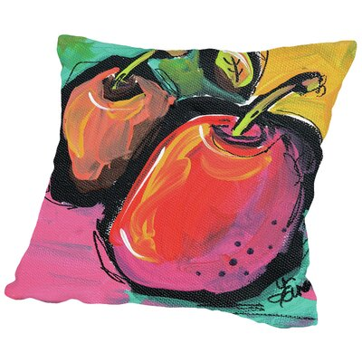 Zany Apples Throw Pillow Size: 14 H x 14 W x 2 D