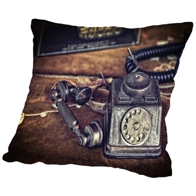 Off The Hook Throw Pillow Size: 18 H x 18 W x 2 D
