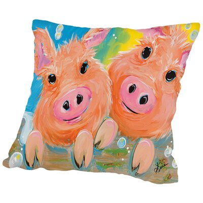 Pig Duo Throw Pillow Size: 18 H x 18 W x 2 D