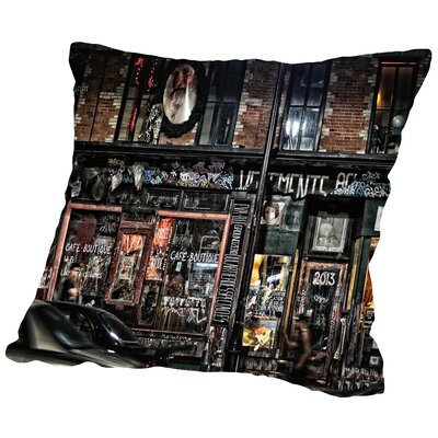 Night Streets Throw Pillow Size: 16 H x 16 W x 2 D