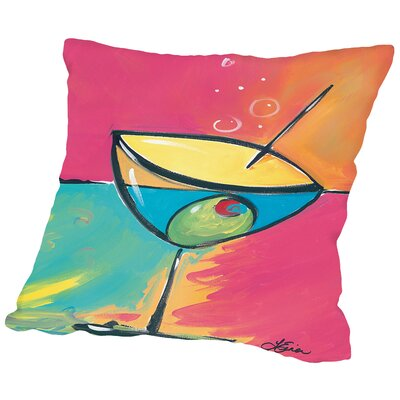 Happy Hour Iv Throw Pillow Size: 16 H x 16 W x 2 D