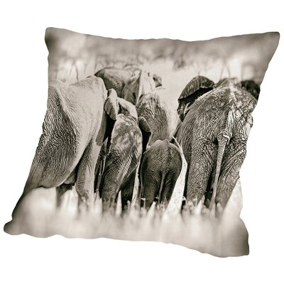 Vintage Elephant Throw Pillow Size: 16 H x 16 W x 2 D