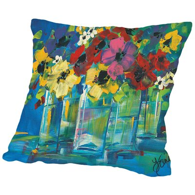 The Line Up Throw Pillow Size: 16 H x 16 W x 2 D