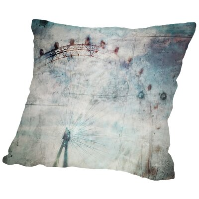 The London Eye Throw Pillow Size: 20 H x 20 W x 2 D