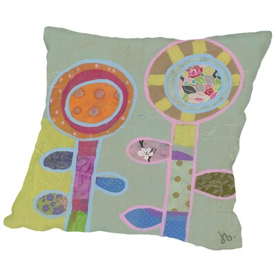 Two Flowers (1) Throw Pillow Size: 18 H x 18 W x 2 D