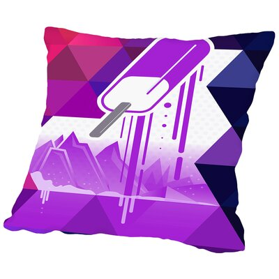 Grape Popsicle Throw Pillow Size: 14 H x 14 W x 2 D