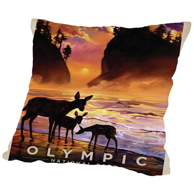 KC NP Olympic Throw Pillow Size: 18 H x 18 W x 2 D