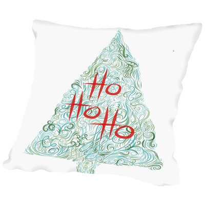 Ho Ho Ho 5 Throw Pillow Size: 14 H x 14 W x 2 D