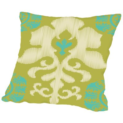 Ikat Teal Throw Pillow Size: 18 H x 18 W x 2 D
