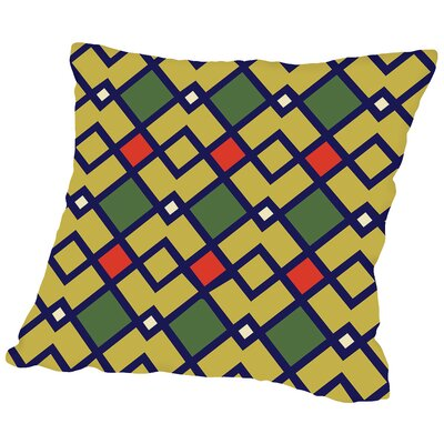 Tribal Linen Throw Pillow Size: 20