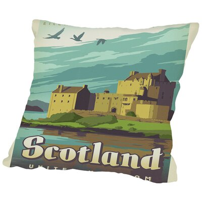 WT Scotland Castle Throw Pillow Size: 16 H x 16 W x 2 D