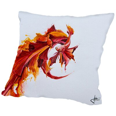 Ignite Print (c) Marc Allante Throw Pillow Size: 16 H x 16 W x 2 D
