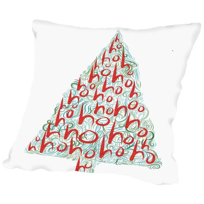 Ho Ho Ho 3 Throw Pillow Size: 18 H x 18 W x 2 D