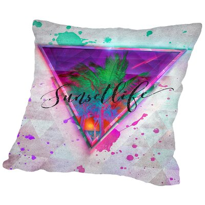 Sunsetlife Throw Pillow Size: 18 H x 18 W x 2 D