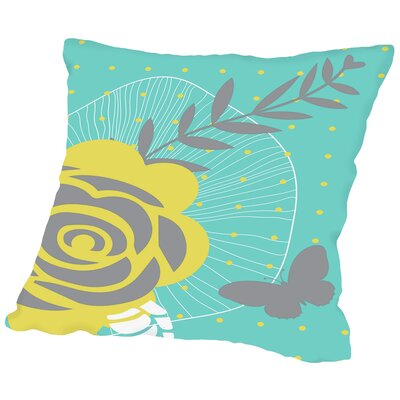 Summer Blooms Throw Pillow Size: 16 H x 16 W x 2 D