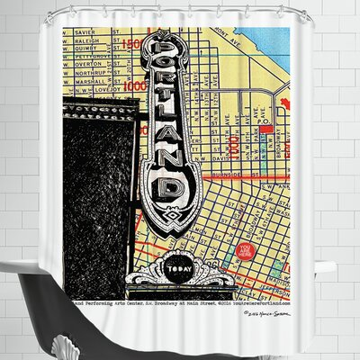 Portland Performing Arts Center Sign Shower Curtain