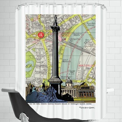 Nelsons Column London Shower Curtain