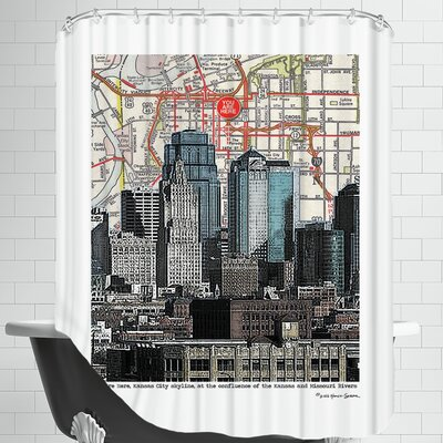 Kansas City Skyline Shower Curtain