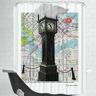 Gastown Clock Vancouver Bc Shower Curtain