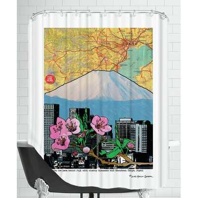 Fuji-Cherry And Downtown Shower Curtain