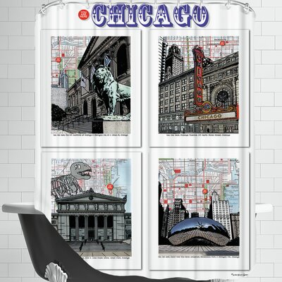 Chicago Poster Shower Curtain