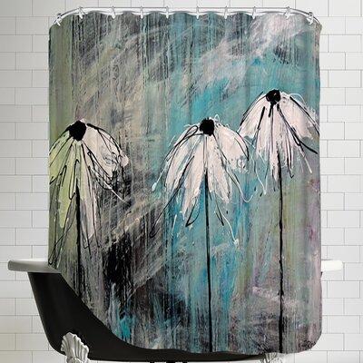 Three Fleurs Blanches Shower Curtain