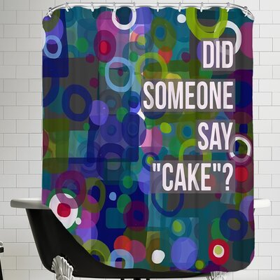 Say Cake 6 Shower Curtain
