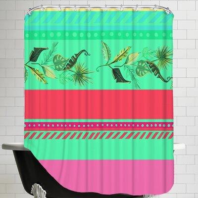 PalmStripes CaraKozik Shower Curtain