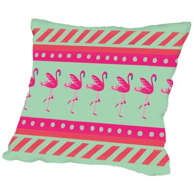 FlamingoLayout Throw Pillow Size: 18 H x 18 W x 2 D