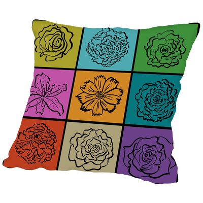 Pop Flower Throw Pillow Size: 16 H x 16 W x 2 D