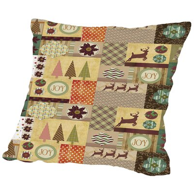 Holiday Joy Throw Pillow Size: 14 H x 14 W x 2 D