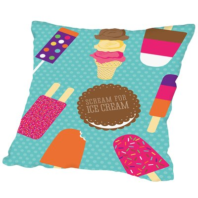 Sweets IceCream Outdoor Throw Pillow Size: 18 H x 18 W x 2 D