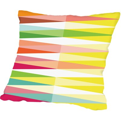 Spring Geometric Triangle Outdoor Throw Pillow Size: 18 H x 18 W x 2 D