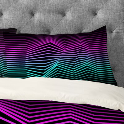Three of the Possessed Miami Nights Pillowcase Size: King