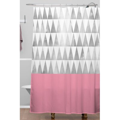 Georgiana Paraschiv Silver Triangles Polyester Shower Curtain