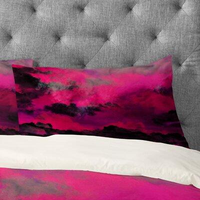 Caleb Troy Raspberry Storm Clouds Pillowcase Size: King