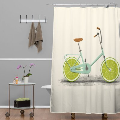 Florent Bodart Acid Polyester Shower Curtain