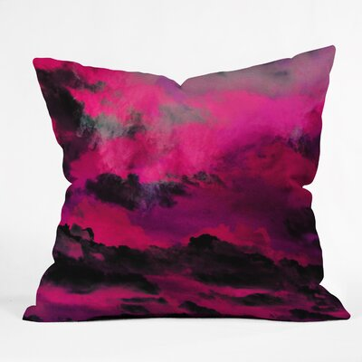 Caleb Troy Raspberry Storm Clouds Throw Pillow Size: 26 H x 26 W x 7 D