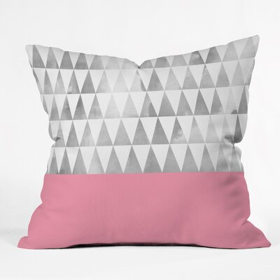 Georgiana Paraschiv Triangles Throw Pillow Size: 26 H x 26 W x 7 D