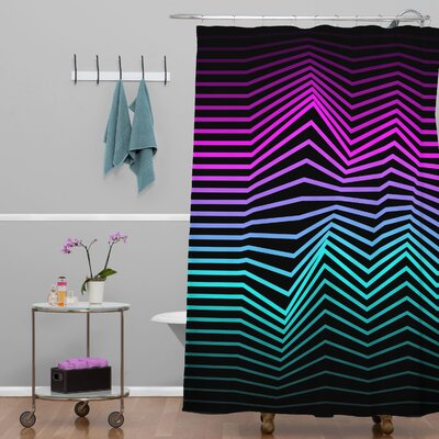 Three of the Possessed Miami Nights Polyester Shower Curtain