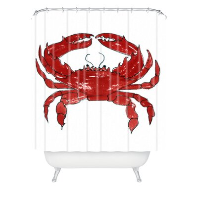 Red Crab by Laura Trevey Shower Curtain